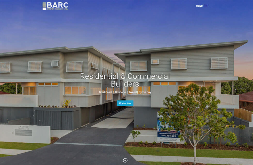 BARC Construction website image