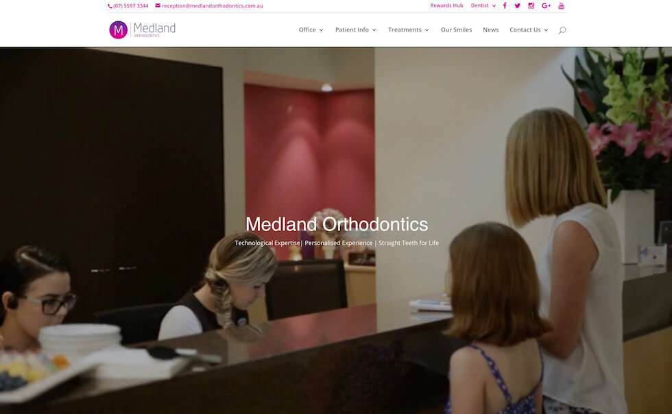 Medland Orthodontics website image